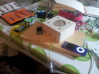 Testing speaker inside box