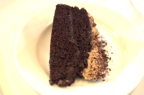 Paleo chocolate cake with lucuma cream