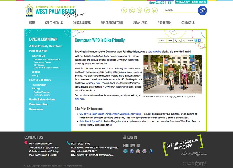 West Palm Beach Downtown Development Authority Page Shout out