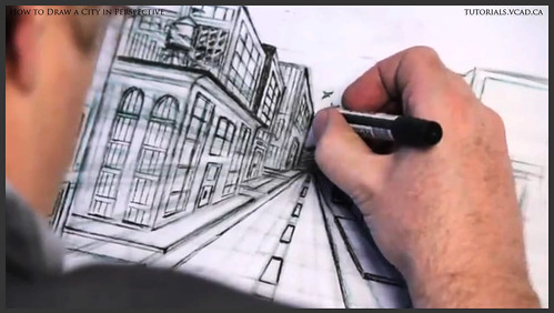 learn how to draw city buildings in perspective 036