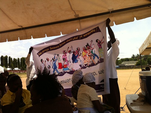Kivulini banner at International Women's Day Celebration