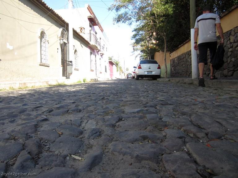Cobblestone streets in Ajijic