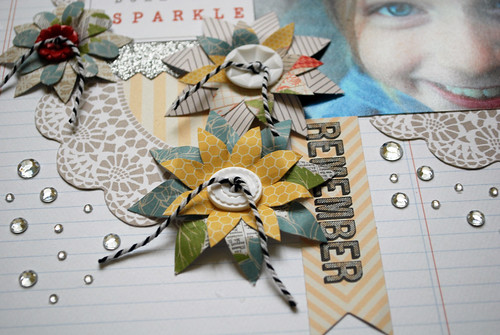 Sparkle layout close up