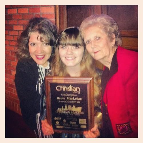 Three Generations. #betsie #threegenerationsofwomen #christianleadersofthefuture #award #betsiessryear