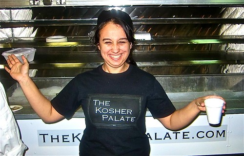 a food truck in front called The Kosher Palate
