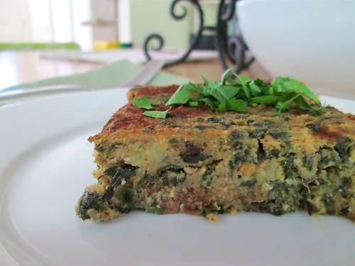 Sweet Potato-Spinach Squares