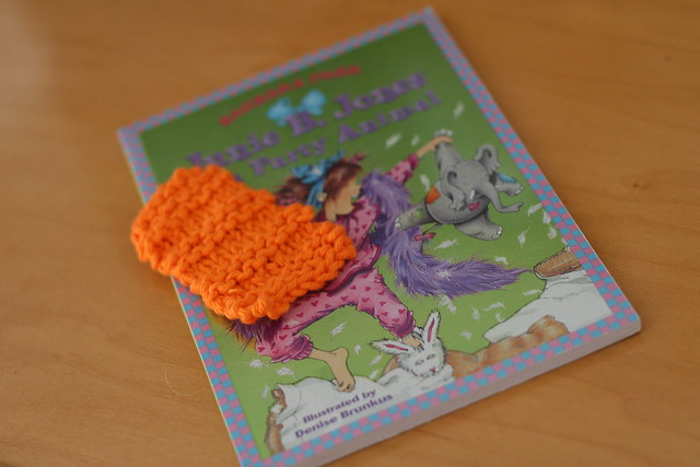 knit by lily - bookmark