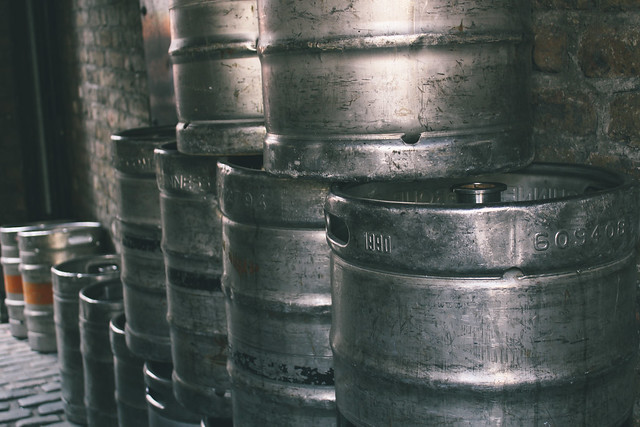 Kegs at the Brazen Head