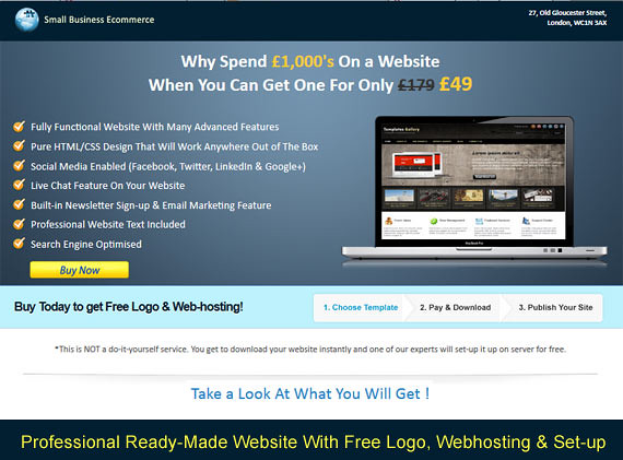 Budget Website - SmallBusinessEcommerce