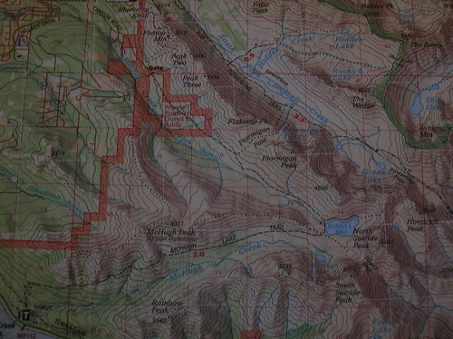 Map for O'Malley Peak