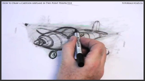 learn how to draw a cartoon airplane in two point perspective 038
