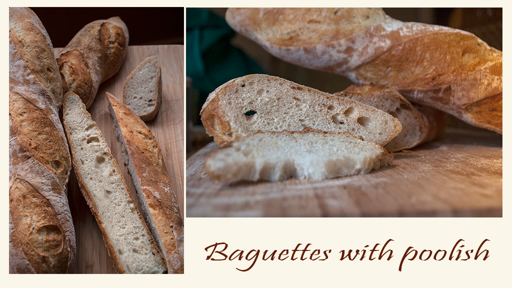 Baguettes with poolish