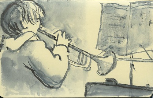 trumpet player by Bricoleur's Daughter