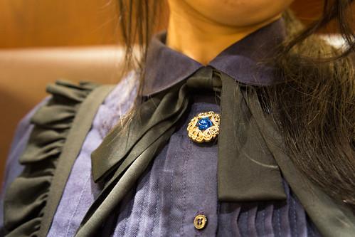 最後秀一下 Pさま的戰利品~ 伸縮自在的鈕扣裝飾! 藍色寶石是最汎用的了~