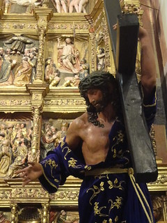 Imagen de Cristo llevando la cruz.