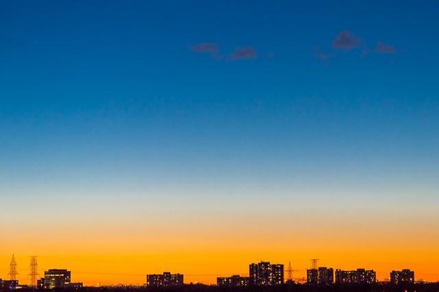 Закат в Этобико