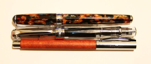 TWSBI Diamond 580 & Faber-Castell Ambition & Levenger True Writer Kyoto