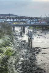 Newhaven, River Ouse at low tide.
