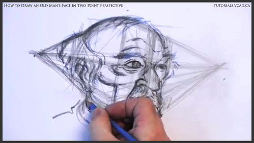 learn how to draw an old man's face in two point perspective 026