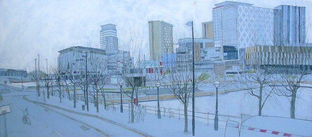 Panorama- Salford Quays with BBC Buildings