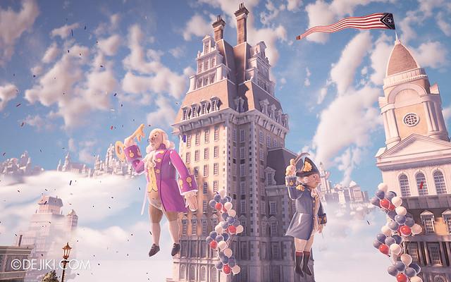 BioShock Infinite - Raffle Balloons on Buildings