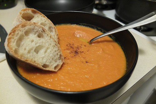 vegan carrot bisque