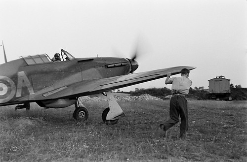 RAF Hawker Hurricane During the Battle of Britian 1940.