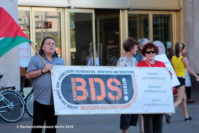 25.08.2016 BDS Berlin ruft zum Boykott von Sodastream auf
