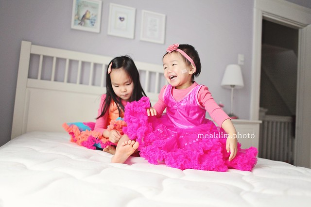 2 little monkeys jumping on the bed!