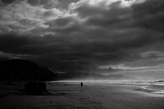 Photograph: Stormy beach.