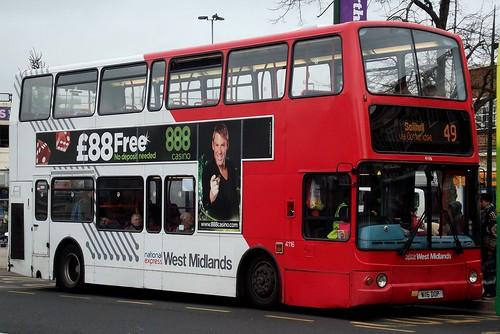 National Express West Midlands Volvo B7TL/Plaxton President 4116 (W116 DOP)