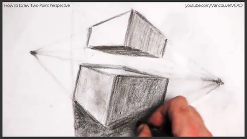2D design how to draw in two point perspective 027