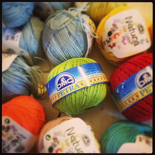 #fmsphotoaday  Day 12 :: Surprise :: new yarn support and some extra surprises from dmc http://www.dmccreative.co.uk/