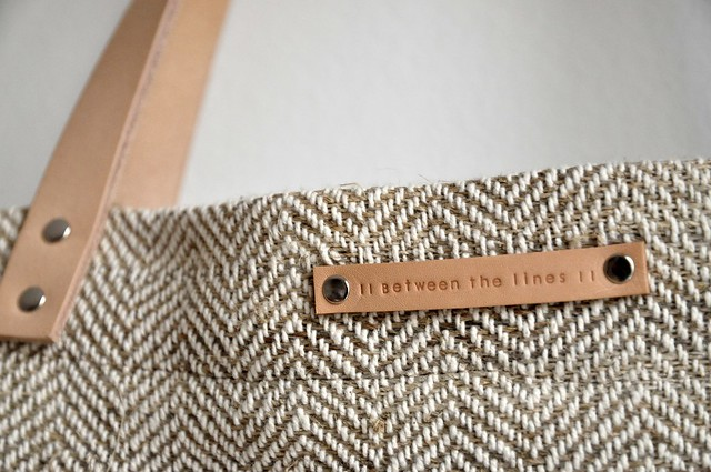 Hemp and cotton shopping tote