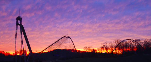 Sunset over Holiday World
