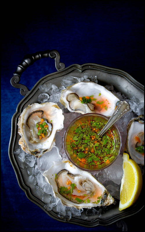 Austern mit Zitrusvinaigrette