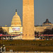 Inauguration 2013 preparations at the Washington Monument and US Capitol - Washington DC
