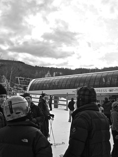 wachusett ski lift people waiting 2