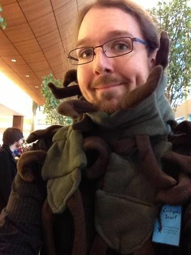 Modeling my brand-new centipede scarf!
