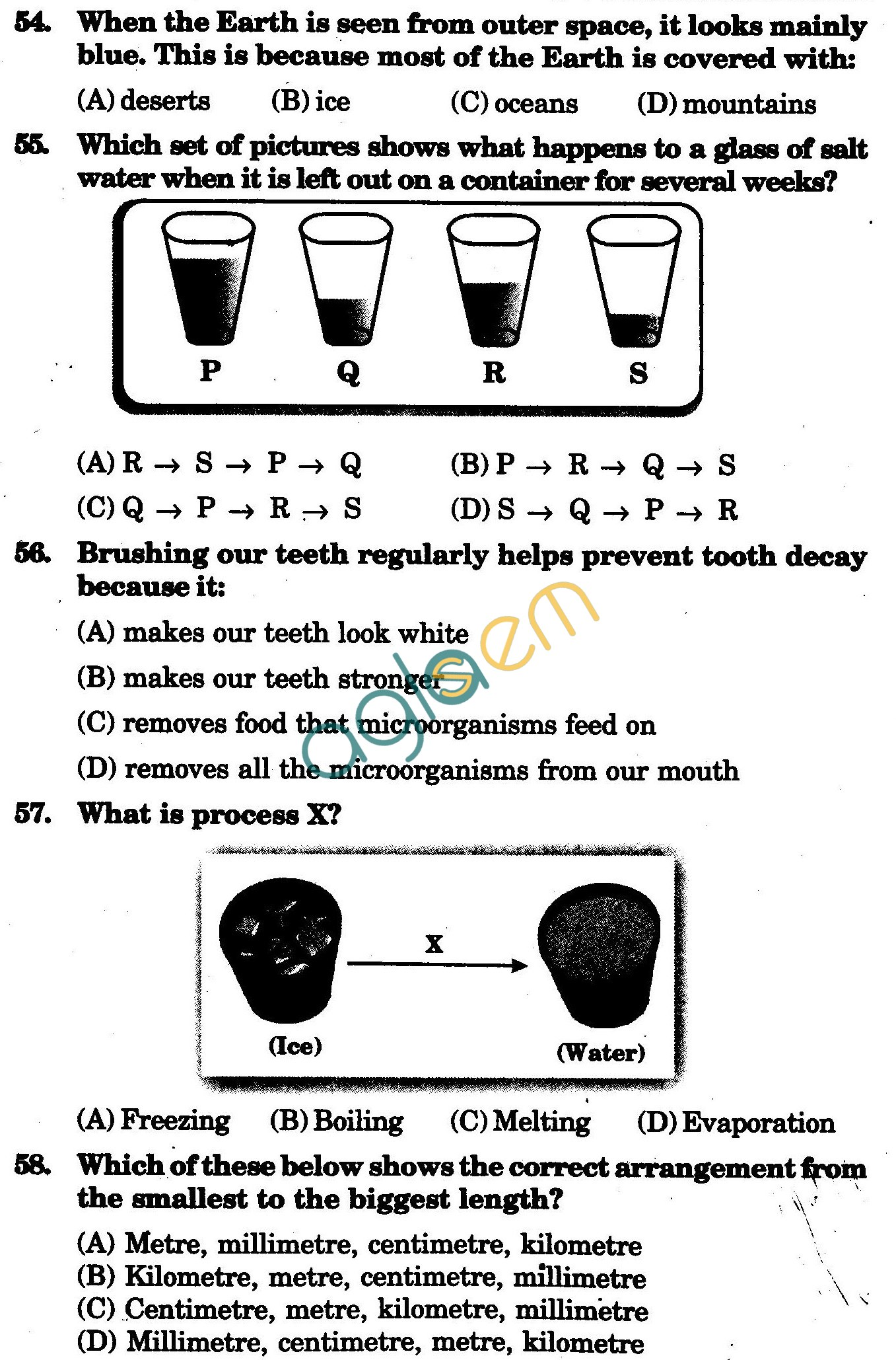 NSTSE 2009 Class III Question Paper with Answers - Science