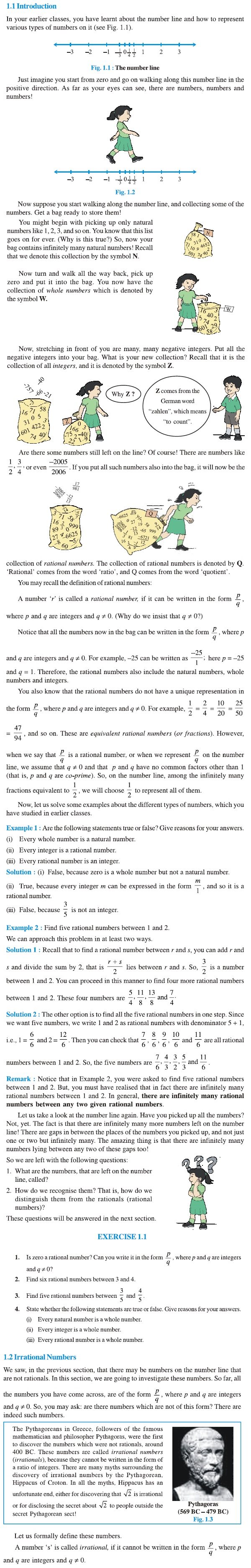 NCERT Class IX Maths Chapter 1 Number Systems