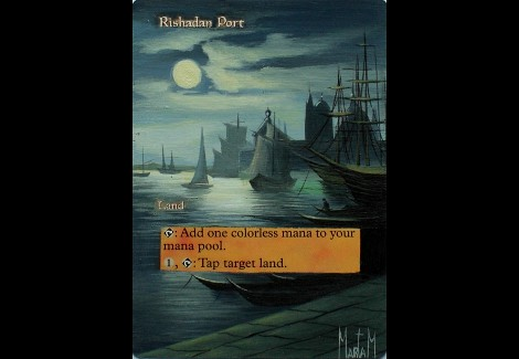 Rishadan Port Magic the Gathering altered art Magic the gathering best card artwork Marta Molina best mtg art