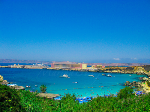 travel blue sea summer vacation holiday seascape green beach horizontal hotel bay paradise view yacht malta resort clearsky unrecognizablepeople horizonoverwater flickraward malteseislands photographyforrecreation rememberthatmomentlevel1 marinabwfs