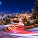 San Francisco Lombard Street lights by Wayne Tilcock
