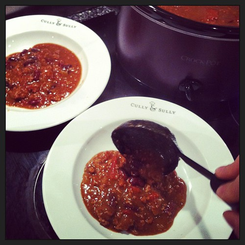 Homemade chili in cully& sully bowls