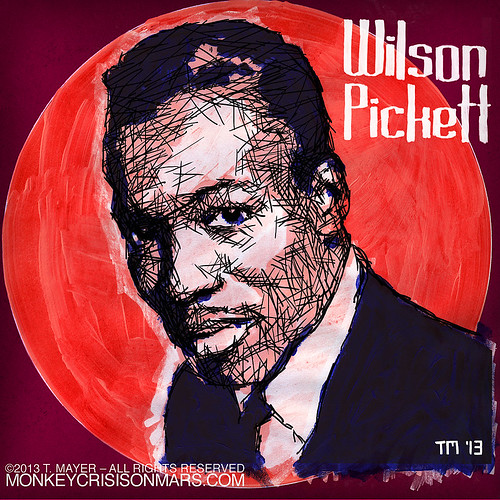 Portrait of American R&B, Soul and Rock 'n' Roll legend Wilson Pickett by Tom Mayer