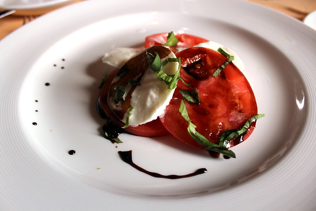 Mozzarella and Vine-Ripened Tomatoes with basil and balsalmic reduction