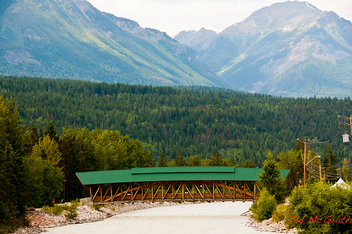 travel bridge vacation mountains nature river outdoors golden nikon arch crossing footbridge britishcolumbia covered coveredbridge span beams rivercrossing riverbridge 2011 spanning summerroadtrip kickinghorseriver mountainscene goldenbc tedmcgrath tedsphotos d300s goldenbritishcolumbia aug11va