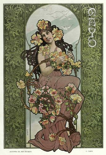 005-Alegoria del mes de Mayo- Gaspar Camps-Revista Álbum Salón-Enero de 1901 -Hemeroteca de la Biblioteca Nacional de España