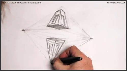 learn how to draw three point perspective 015